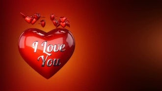 Valentines Day Background: Motion Graphics