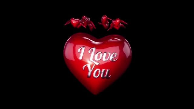 3D hearts for Valentines Day or Wedding 02: Stock Motion Graphics