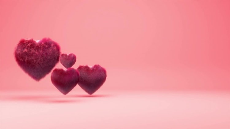 Hairy Hearts Background: Stock Motion Graphics