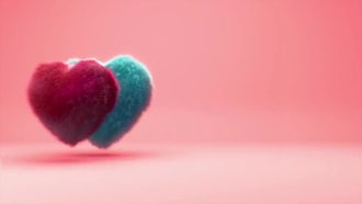 Hairy Hearts Background Animation: Motion Graphics