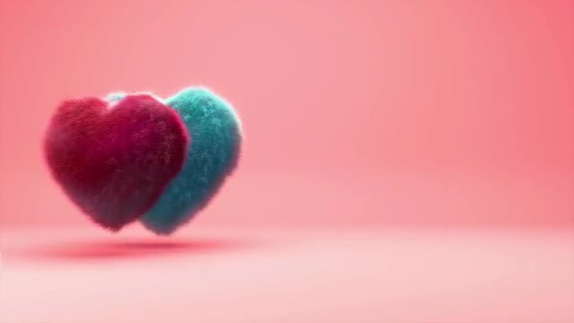 Hairy Hearts Background Animation: Stock Motion Graphics