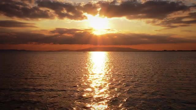 Sunset And Seascape: Stock Video