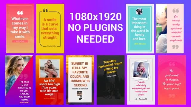 Quotes Instagram Stories: After Effects Templates