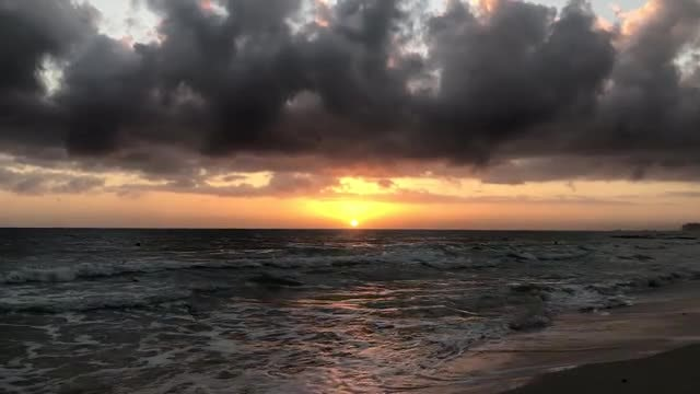 Sunrise  Over Beach: Stock Video