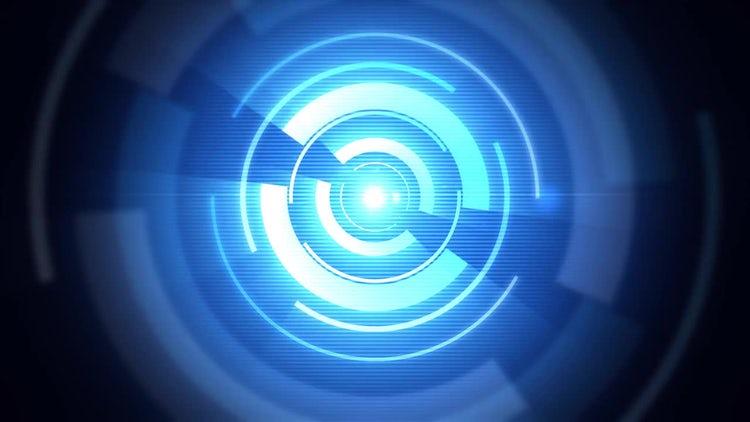Digital Blue Circles: Stock Motion Graphics