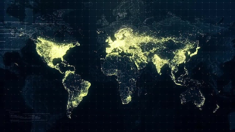 Pack of World Maps At Night: Motion Graphics