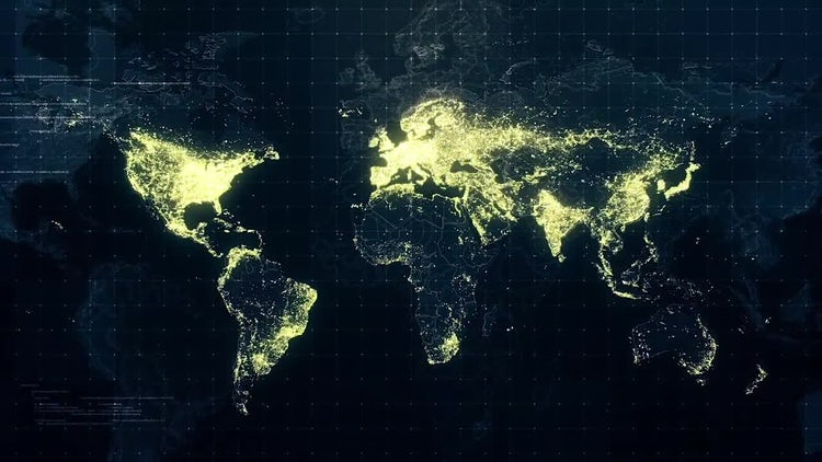 Pack of World Maps At Night: Stock Motion Graphics