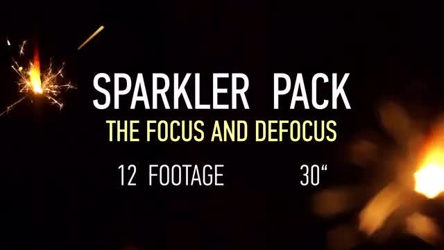 Sparklers Pack: Stock Video