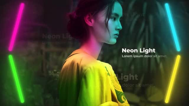 Neon Light Slides: After Effects Templates