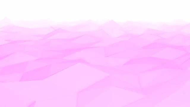 Pink Low Poly Waves: Stock Motion Graphics