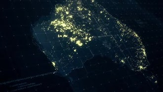 Pack of Australia Maps At Night: Motion Graphics