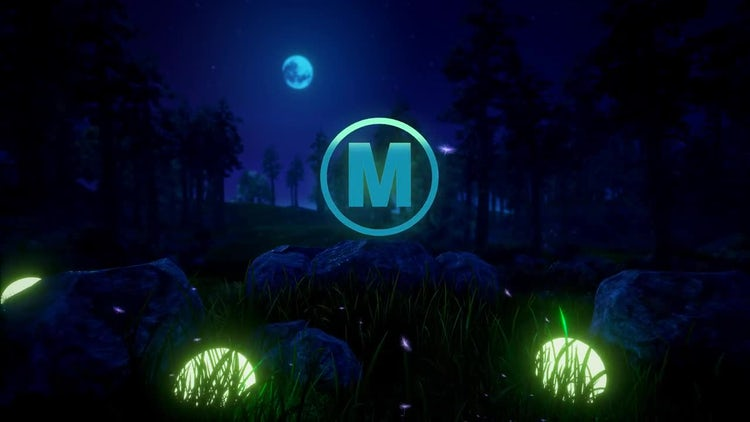 Epic Natural Logo In The Night: After Effects Templates