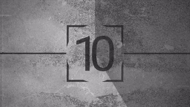 Monochrome Old View Countdown: Stock Motion Graphics
