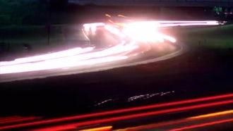 Timelapse City Night Traffic: Stock Video