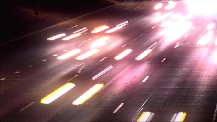 Timelapse Highway At Night: Stock Video