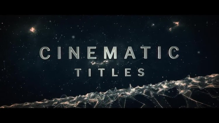 Cinematic Titles: After Effects Templates