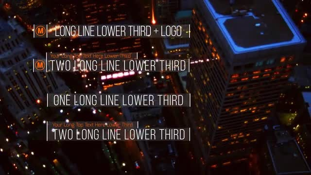 Lines Lower Thirds: After Effects Templates