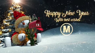 New Year Snowman: After Effects Templates