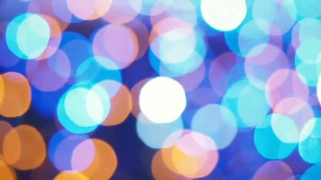 Colorful Bokeh Background: Stock Video