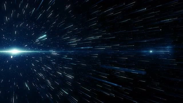 Blue Light And Particles Loop: Stock Motion Graphics