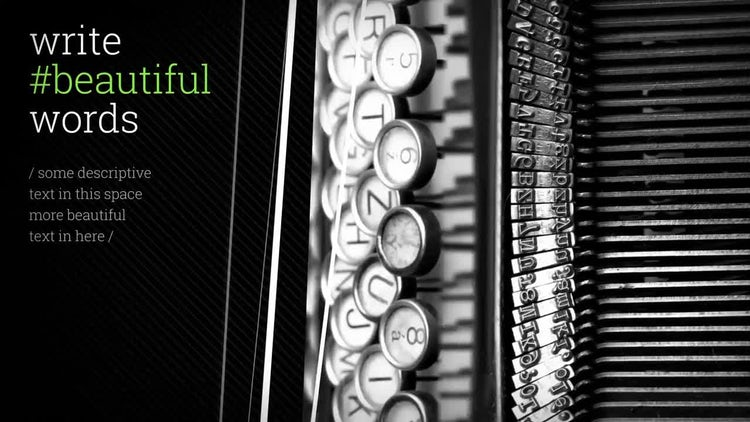 Beautiful Things: After Effects Templates