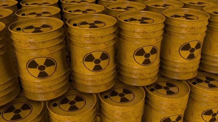 Nuke/ Radioactive Barrels Loop: Stock Motion Graphics