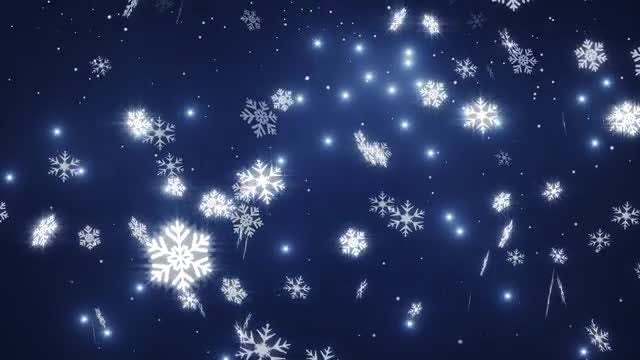 Falling Snow: Stock Motion Graphics