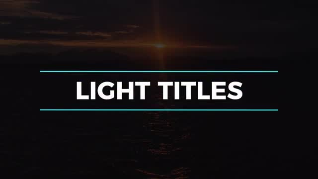 Light Titles & Lower Thirds: Premiere Pro Templates