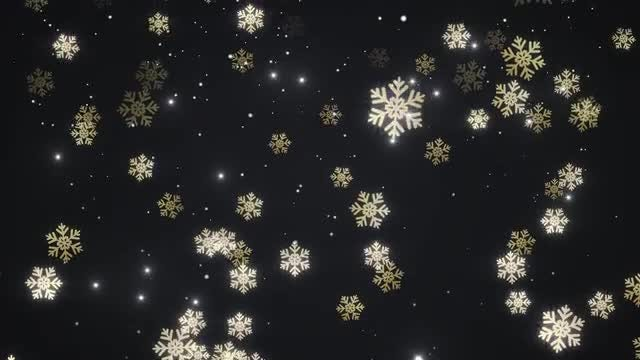 Golden Falling Snow: Stock Motion Graphics