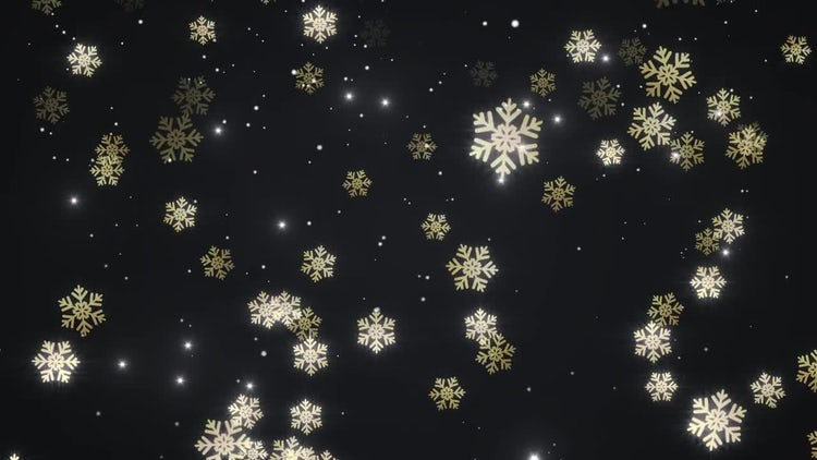Golden Falling Snow: Motion Graphics