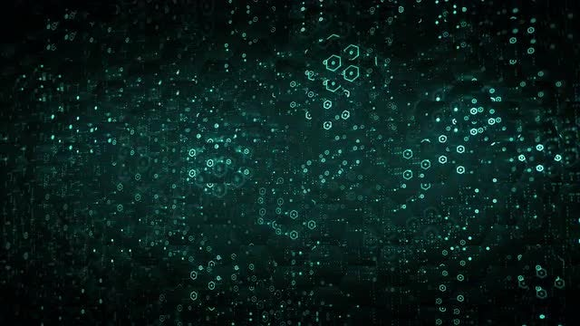 Hex Data Background: Stock Motion Graphics