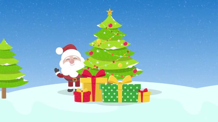 Santa Happy New Year Logo Opener: After Effects Templates
