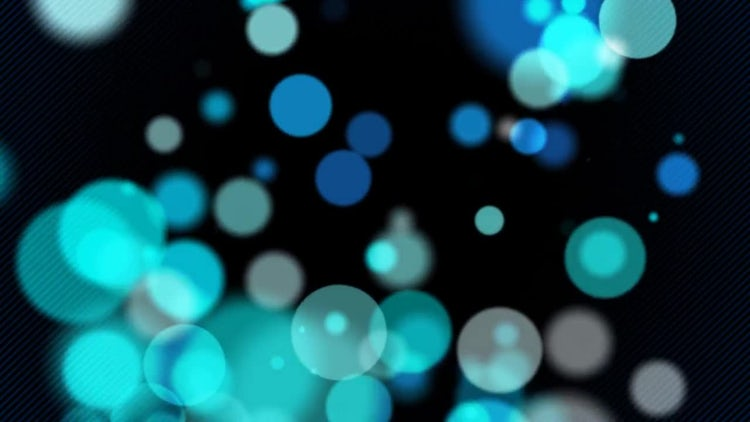 Rising Blue Spheres: Motion Graphics