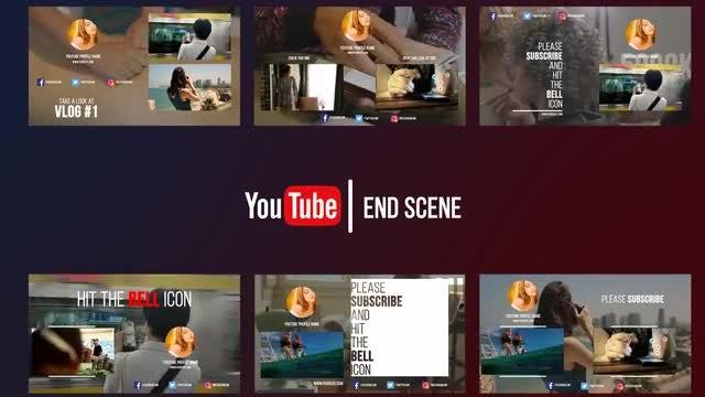 Youtube End Scene: Premiere Pro Templates