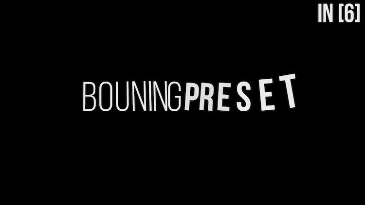 Bouning TextPreset V1.0: After Effects Templates