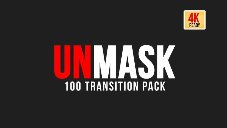 UNMASK - 100 Transition pack: Stock Motion Graphics