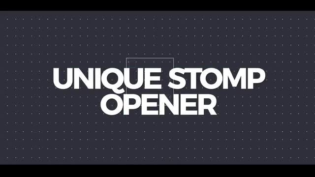 Unique Stomp Opener: After Effects Templates
