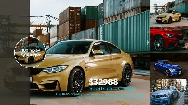 Car Dealership Slideshow: After Effects Templates