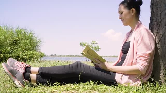 Woman Reading: Stock Video