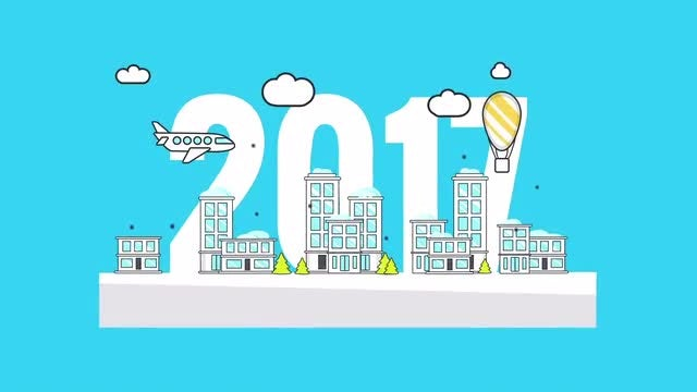 New year corporate logo animation: After Effects Templates
