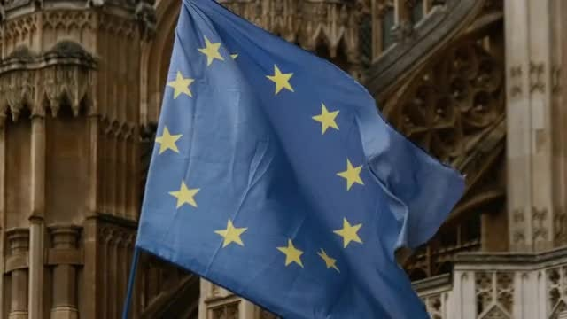 European Union Flag: Stock Video