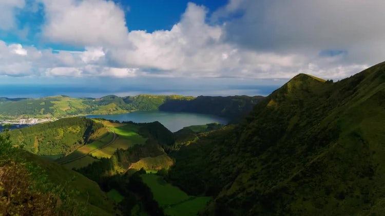 Volcanic Island: Stock Video