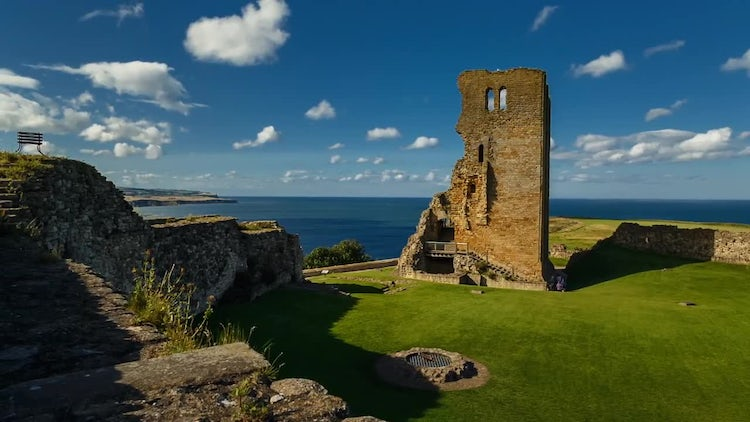 Scarborough Castle: Stock Video