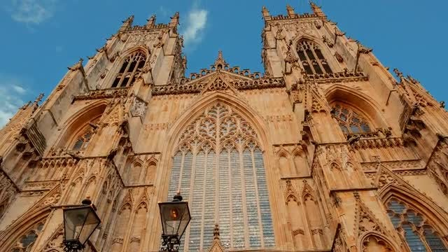 York Cathedral In England: Stock Video