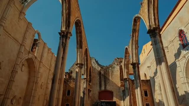 Old Convent In Lisbon: Stock Video