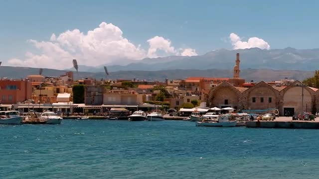 Chania Promenade, Crete: Stock Video