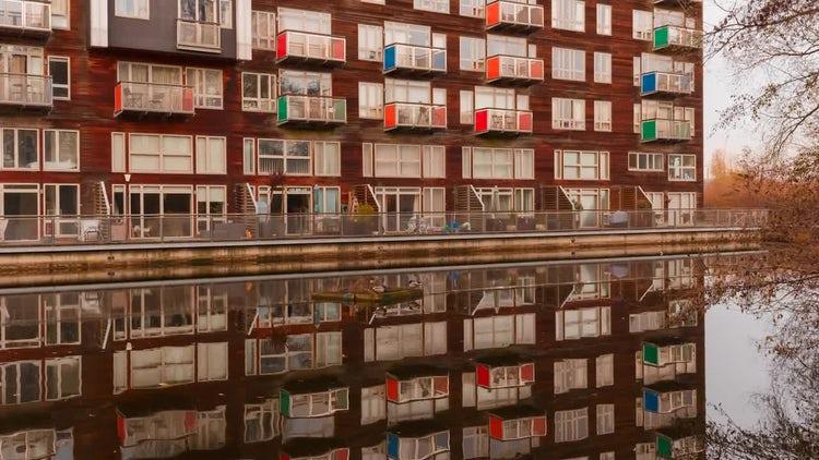 Suburban Residential Building: Stock Video