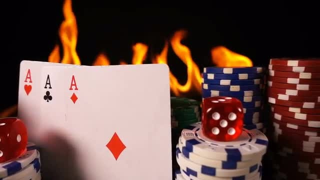 Gambling And Fire: Stock Video