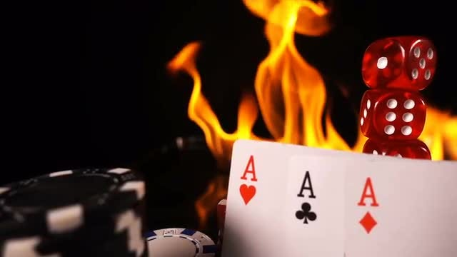 Gambling Items And Fire: Stock Video