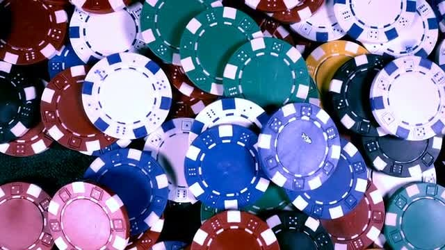 Gambling Chips Top View: Stock Video